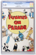 Platinum Age (1897-1937):Miscellaneous, Funnies On Parade #nn (Eastern Color, 1933) CGC GD 2.0 Off-white pages....