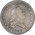 Early Half Dollars, 1795 50C Y Over Star, Two Leaves, O-121, High R.4--ObverseGraffiti, Improperly Cleaned--NCS. VF Details....