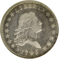 1795 50C Two Leaves, O-103a, R.5--Improperly Cleaned--NCS. VF Details....(PCGS# 6052)