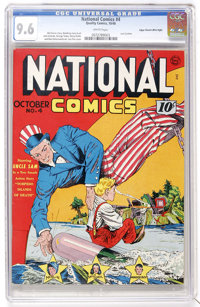 National Comics #4 Mile High pedigree (Quality, 1940) CGC NM+ 9.6 White pages