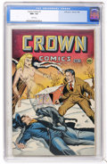 Golden Age (1938-1955):Adventure, Crown Comics #1 (Golfing, Inc., 1944) CGC NM+ 9.6 White pages....