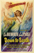 "Movie Posters:Musical, Down to Earth (Columbia, 1947). One Sheet (27"" X 41"") Style A. ..."