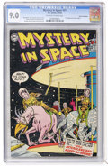 Golden Age (1938-1955):Science Fiction, Mystery in Space #21 Cosmic Aeroplane pedigree (DC, 1954) CGC VF/NM9.0 Off-white to white pages....