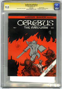 Cerebus The Aardvark #1 Signature Series - Dave Sim File Copy (Aardvark-Vanaheim, 1977) CGC VF/NM 9.0 White pages