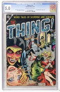 Golden Age (1938-1955):Horror, The Thing! #12 (Charlton, 1954) CGC VG/FN 5.0 Off-white to whitepages....