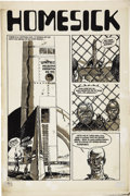 "Original Comic Art:Splash Pages, Jack Jackson (""Jaxon"") Slow Death #4 ""Homesick,"" Splash Page1 Original Art (Last Gasp, 1972)...."