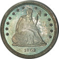 Proof Seated Quarters, 1862 25C PR65 PCGS....