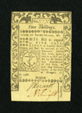 Colonial Notes:Rhode Island, Rhode Island May 1786 5s Choice New....
