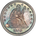Proof Seated Quarters, 1890 25C PR66 NGC....