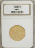 Liberty Eagles: , 1842-O $10 VF20 NGC. NGC Census: (3/189). PCGS Population (3/111).Mintage: 27,400. Numismedia Wsl. Price for NGC/PCGS coin...