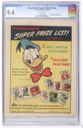 Golden Age (1938-1955):Cartoon Character, Donald Duck Super Prize List #nn (Ice Cream Novelties, 1950) CGC NM9.4 Off-white pages....