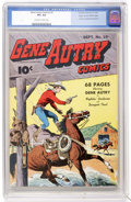 Golden Age (1938-1955):Western, Gene Autry Comics #10 Mile High pedigree (Fawcett, 1943) CGC VF+8.5 Off-white to white pages....
