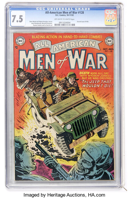 All-American Men of War #128 (#2) (DC, 1952) CGC VF- 7.5 Off-white to white pages....