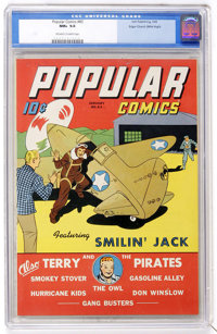 Popular Comics #83 Mile High pedigree (Dell, 1943) CGC NM+ 9.6 Off-white to white pages
