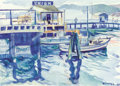Western:20th Century, PAUL SAMPLE (American, 1896-1974). Boats in Harbor, 1946. Watercolor on paper. 9-3/4 x 13-1/2 inches (24.8 x 34.3 cm). S...