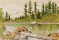 Works on Paper, EDWARD WILSON CURRIER (American, 1857-1918). Northern California Landscape, 1908. Watercolor and graphite on paper. 6-1/...