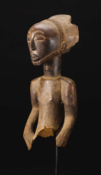 Hemba, Niembo(?) (Democratic Republic of Congo) Male Ancestor Wood Height: 17 5/8 inches Width: 7 inches Depth: 6 &frac1...