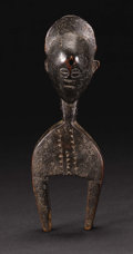Guro (Côte d'Ivoire) Heddle Pulley Wood Height: 9 inches Width: 3 inches Depth: 2 inches  West African weaving is...