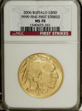 Modern Bullion Coins: , 2006 $50 First Strike MS70 NGC. (#821014)...