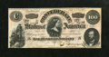 Confederate Notes:1864 Issues, T65 $100 1864. This C-note has embossing. Crisp Uncirculated....