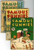 "Golden Age (1938-1955):Miscellaneous, Famous Funnies Group - Davis Crippen (""D"" Copy) pedigree (Eastern Color, 1938-40).... (Total: 6)"