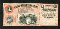 Detroit, MI- State Bank of Michigan $1 Aug. 6, 1862 This is a scarce ABNCo remainder utilizing the Lyman Protector metho...