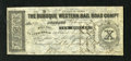 Obsoletes By State:Iowa, Dubuque, IA- Dubuque Western Rail Road Compy. $10 Feb. 2, 1858. Thefolds are light on this example. Extremely Fine....