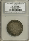 Early Half Dollars, 1806 50C Pointed 6, With Stem--Improperly Cleaned--NCS. VFDetails....