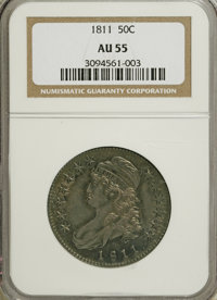 1811 50C Large 8 AU55 NGC. PCGS Population (24/93). Mintage: 1,203,644. Numismedia Wsl. Price for NGC/PCGS coin in AU55:...