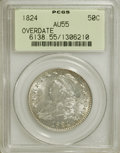 Bust Half Dollars: , 1824 50C Overdate AU55 PCGS. PCGS Population (10/48). NGC Census:(5/38). Numismedia Wsl. Price for NGC/PCGS coin in AU55:...