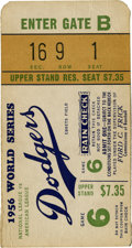 Baseball Collectibles:Tickets, 1956 World Series Ticket Game 6. ...