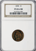 Proof Indian Cents, 1898 1C PR65 ★ Red and Brown NGC. NGC Census: (58/27). PCGS Population (60/14). Mintage: 1...