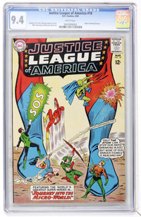 Justice League of America #18 (DC, 1963) CGC NM 9.4 White pages