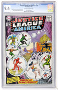 Silver Age (1956-1969):Superhero, Justice League of America #16 (DC, 1962) CGC NM 9.4 Off-white towhite pages....