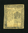 Colonial Notes:Pennsylvania, Pennsylvania October 25, 1775 6d Extremely Fine....