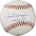 "Autographs:Baseballs, Joe DiMaggio ""Hall of Fame 55"" Single Signed Baseball...."