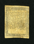 Colonial Notes:Pennsylvania, Pennsylvania April 10, 1777 6d Fine....