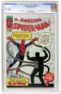 Silver Age (1956-1969):Superhero, The Amazing Spider-Man #3 (Marvel, 1963) CGC VF/NM 9.0Off-white to white pages....