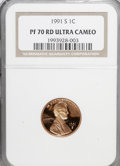 Proof Lincoln Cents, 1991-S 1C PR70 Red Ultra Cameo NGC. NGC Census: (97/0). PCGSPopulation (71/0). Numismedia Wsl. Price for NGC/PCGS coin in...