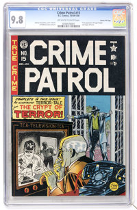 Crime Patrol #15 Gaines File pedigree 3/11 (EC, 1950) CGC NM/MT 9.8 Off-white to white pages