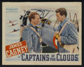 "Movie Posters:War, Captains of the Clouds (Warner Brothers, 1942). Lobby Card (11"" X14""). War...."