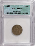 Bust Dimes: , 1835 10C XF45 ICG. NGC Census: (20/356). PCGS Population (26/278).Mintage: 1,410,000. Numismedia Wsl. Price for NGC/PCGS c...