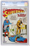 Silver Age (1956-1969):Superhero, Superman #118 (DC, 1958) CGC VF 8.0 Off-white to white pages....