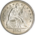 Seated Dollars, 1853 $1 MS64 PCGS....