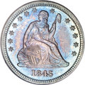 Seated Quarters, 1845 25C MS65 NGC....