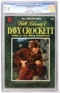 Golden Age (1938-1955):Miscellaneous, Dell Giant Comics - Davy Crockett #1 Canadian Edition (Dell, 1955) CGC VF- 7.5 Off-white pages....
