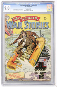 Star Spangled War Stories #25 (DC, 1954) CGC VF/NM 9.0 Off-white pages