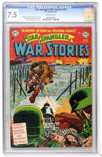 Star Spangled War Stories #22 (DC, 1954) CGC VF- 7.5 Off-white pages