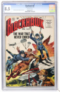 Silver Age (1956-1969):Adventure, Blackhawk #99 (Quality, 1956) CGC VF+ 8.5 Off-white pages....