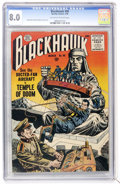 Silver Age (1956-1969):War, Blackhawk #98 (Quality, 1956) CGC VF 8.0 Off-white to white pages....